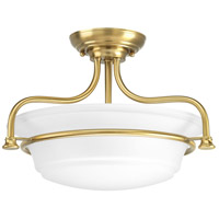 Progress P350079-109 Tinsley 2 Light 17 inch Brushed Bronze Semi-Flush Convertible Ceiling Light