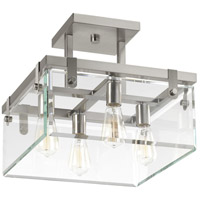 Glayse 4 Light 21 inch Brushed Nickel Semi-Flush Convertible Ceiling Light, Design Series