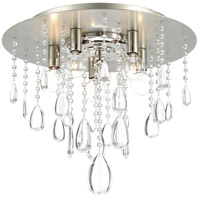 Anjoux 5 Light 16 inch Silver Ridge Flush Mount Ceiling Light