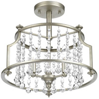 Progress P350106-134 Desiree 3 Light 16 inch Silver Ridge Semi-Flush Convertible Ceiling Light Design Series