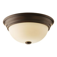Spirit 2 Light 13 inch Antique Bronze Flush Mount Ceiling Light