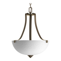 Progress P3505-20 Legend 3 Light 17 inch Antique Bronze Inverted Foyer Pendant Ceiling Light