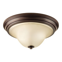 Spirit 2 Light 15 inch Antique Bronze Flush Mount Ceiling Light