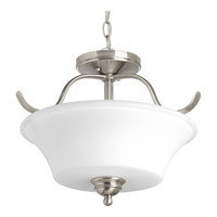Progress Lighting Applause 2 Light Semi-Flush Convertible in Brushed Nickel P3507-09