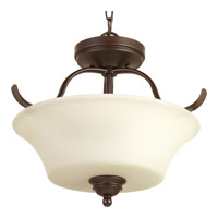 Applause 2 Light 16 inch Antique Bronze Semi-Flush Convertible Ceiling Light