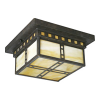 Progress Lighting Arts and Crafts 2 Light Close-to-Ceiling in Weathered Bronze P3513-46