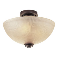 Riverside 3 Light 14 inch Heirloom Semi-Flush Mount Ceiling Light