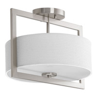 Harmony 3 Light 13 inch Brushed Nickel Semi-Flush Convertible Ceiling Light