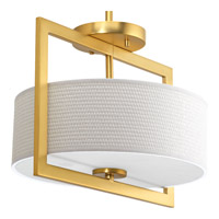 Progress Harmony 3 Light Semii-Flush Convertible in Natural Brass P3529-137