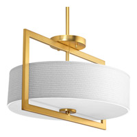 Harmony 3 Light 15 inch Natural Brass Semi-Flush Convertible Ceiling Light