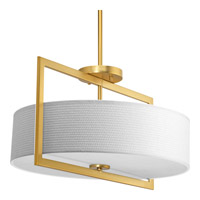 Harmony 3 Light 18 inch Natural Brass Semi-Flush Convertible Ceiling Light
