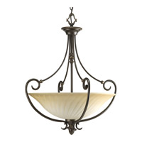 Kensington 3 Light 22 inch Forged Bronze Hall & Foyer Ceiling Light in Frosted Caramel Swirl