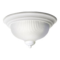 Swirled Glass 2 Light 12 inch Textured White Close-to-Ceiling Ceiling Light
