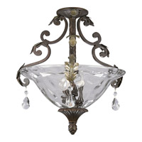 Progress Lighting Thomasville Savona 3 Light Semi-Flush Mount in Cognac P3544-72