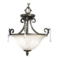 Progress Lighting Veranda 2 Light Semi-Flush Mount in Espresso P3556-84