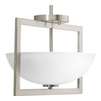 Progress P3557-09 Harmony 2 Light 12 inch Brushed Nickel Semi-Flush Convertible Ceiling Light