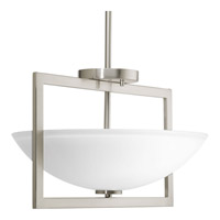 Progress P3558-09 Harmony 3 Light 15 inch Brushed Nickel Semi-Flush Convertible Ceiling Light