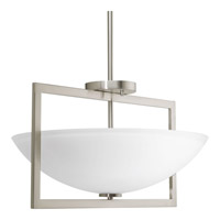 Progress P3559-09 Harmony 3 Light 18 inch Brushed Nickel Semi-Flush Convertible Ceiling Light