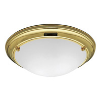 Eclipse 2 Light 15 inch Polished Brass Close-to-Ceiling Ceiling Light