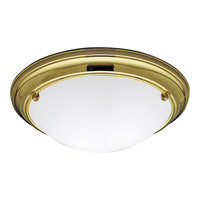 Progress Lighting Eclipse 2 Light Close-to-Ceiling in Polished Brass P3562-10EB