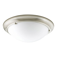 Progress Lighting Eclipse 3 Light Close-to-Ceiling in Brushed Nickel P3563-09