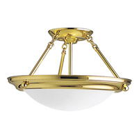 Progress Lighting Eclipse 2 Light Semi-Flush Mount in Polished Brass P3567-10