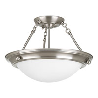 Progress P3568-09EB Eclipse 2 Light 15 inch Brushed Nickel Close-to-Ceiling Ceiling Light