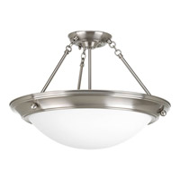 Progress Lighting Eclipse 3 Light Close-to-Ceiling in Brushed Nickel P3570-09EB