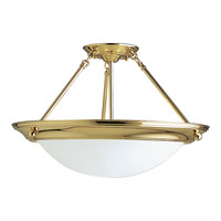 Progress Lighting Eclipse 3 Light Semi-Flush Mount in Polished Brass P3570-10EB