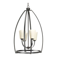 Progress P3571-84 Ridge 4 Light 21 inch Espresso Foyer Pendant Ceiling Light