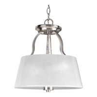 Dazzle 3 Light 14 inch Brushed Nickel Convertible Semi-Flush Ceiling Light