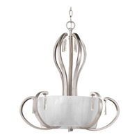 Progress Dazzle 5 Light Foyer Pendant in Brushed Nickel P3574-09