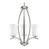 Joy 3 Light 15 inch Brushed Nickel Hall & Foyer Ceiling Light in Etched