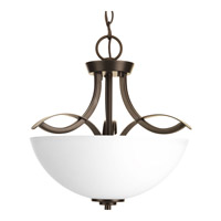 Progress Lighting Merge 2 Light Semi-Flush Convertible in Antique Bronze P3589-20