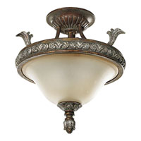 Progress P3592-55 Carmel 3 Light 16 inch Tuscany Crackle Semi-Flush Mount Ceiling Light photo thumbnail