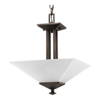 Progress Lighting North Park 2 Light Semi-Flush Mount in Venetian Bronze P3597-74