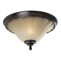 Le Jardin 2 Light 15 inch Espresso Close-to-Ceiling Ceiling Light