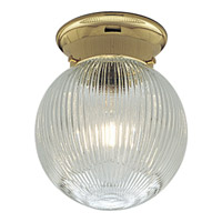 Progress Lighting Glass Globe 1 Light Close-to-Ceiling in Polished Brass P3599-10