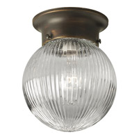Glass Globe 1 Light 6 inch Antique Bronze Close-to-Ceiling Ceiling Light