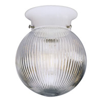 Glass Globe 1 Light 6 inch Textured White Close-to-Ceiling Ceiling Light