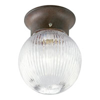 Progress Lighting Glass Globe 1 Light Close-to-Ceiling in Cobblestone P3599-33