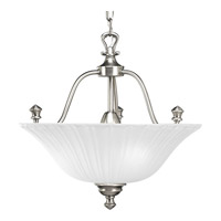 Progress Lighting Renovations 3 Light Semi-Flush Mount in Antique Nickel P3607-81