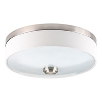 Weaver LED 10 inch Brushed Nickel Flush Mount Ceiling Light