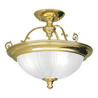 Progress Lighting Prescott 3 Light Close-to-Ceiling in Polished Brass P3610-10