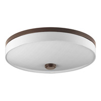 Weaver LED 16 inch Antique Bronze Flush Mount Ceiling Light