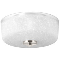 Alexa 2 Light 12 inch Brushed Nickel Flush Mount Ceiling Light