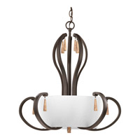 Club 5 Light 22 inch Antique Bronze Foyer Pendant Ceiling Light
