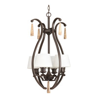 Progress P3626-20 Club 4 Light 18 inch Antique Bronze Foyer Pendant Ceiling Light