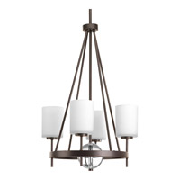 Progress Compass 4 Light Foyer Pendant in Antique Bronze P3629-20