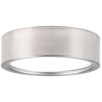 Portal LED 9 inch Brushed Nickel Flush Mount Ceiling Light, Etched White Acrylic
